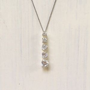 Jewelry - Sterling Silver Cubic Zirconia Pendant Necklace